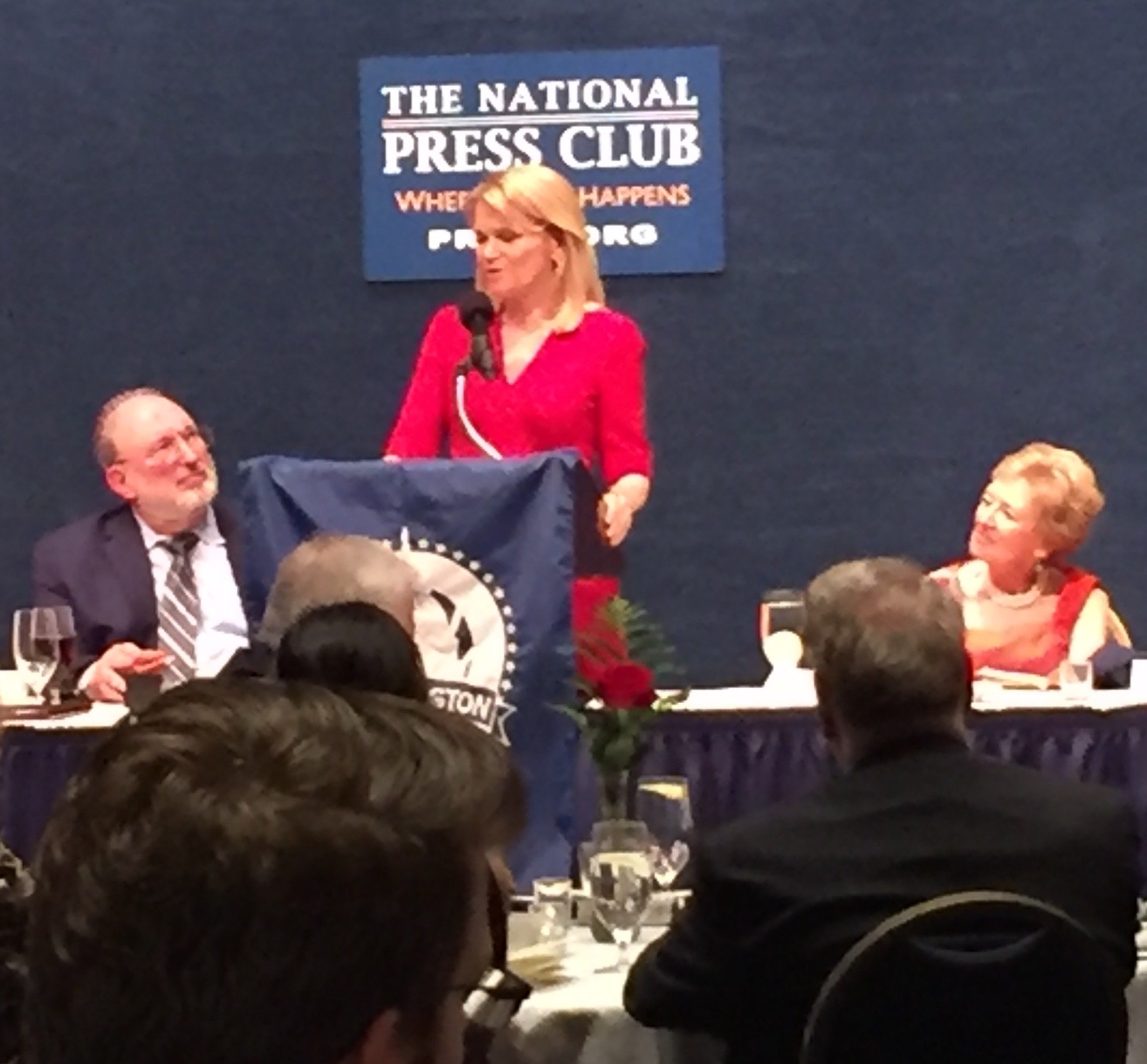 SPJ-DC Hall of Fame inductee Martha Raddatz speaks at 2017 Dateline Awards/Hall of Fame dinner