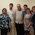 Journalists from Kazakhstan meet with SPJ International Community Co-chair Dan Kubiske (center) and Washington, DC, SPJ board member Alice Ollstein (second from right)